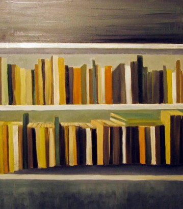 'MEMENTO BOOKS' - OIL ON CANVAS